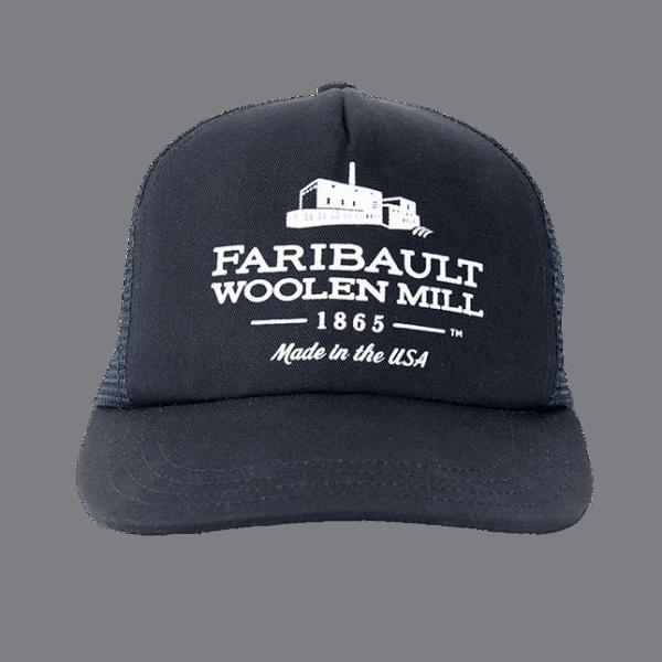 Faribault Trucker Mesh Cap Navy