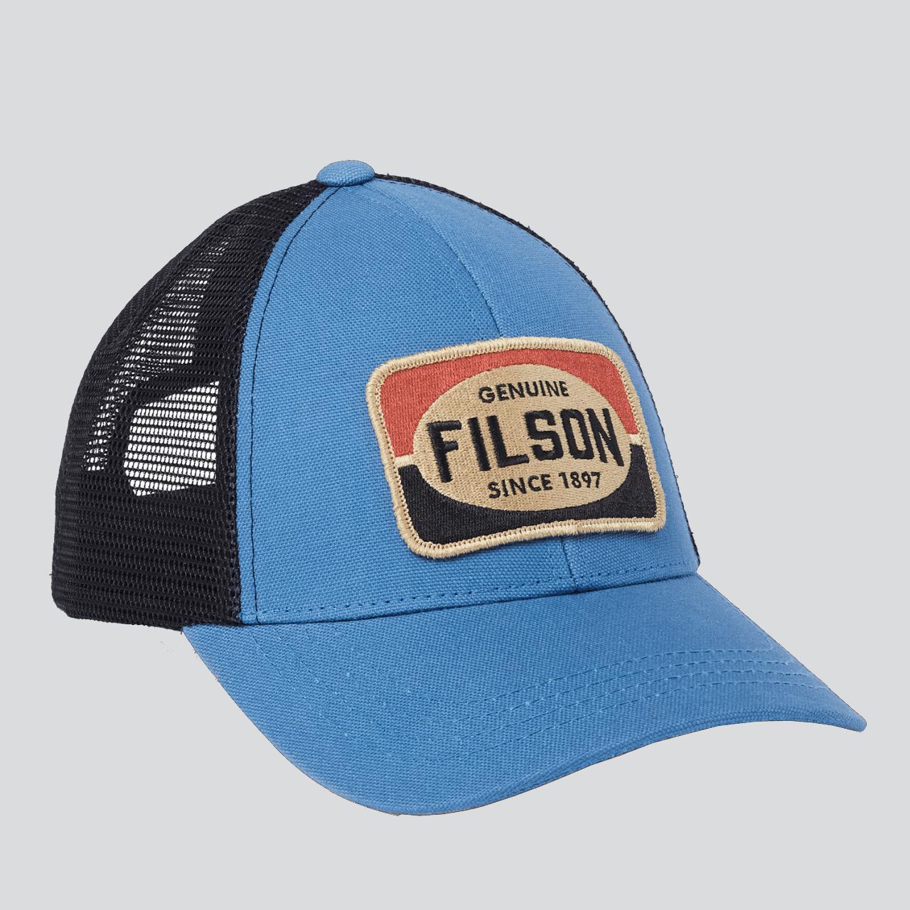 Filson Mesh Snap Logger Cap - Blue