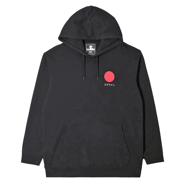 Edwin Japanese Sun Hoodie Sweat - black