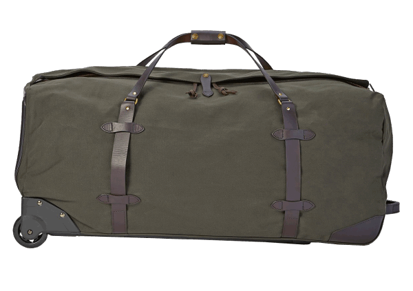 Filson Extra Large Rugged Twill Rolling Duffle Bag - Otter Green