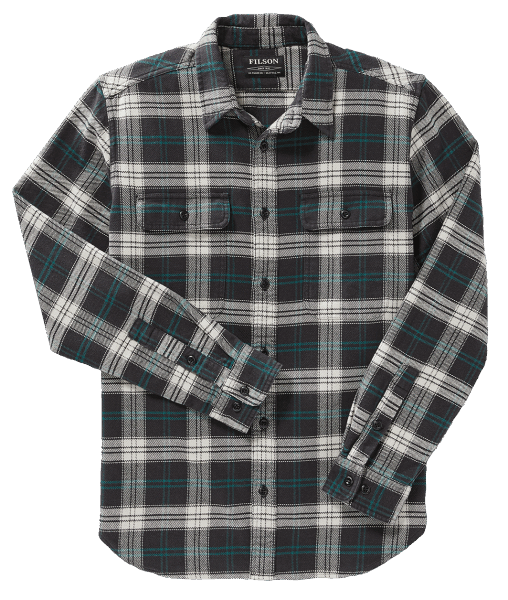 Filson Vintage Flannel Work Shirt - black/teal/cream