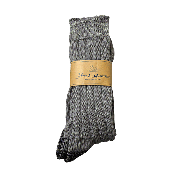 Merz beim Schwanen Merino Socks - grau melange