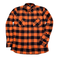 Edwin Labour LS Flannel Shirt - orange / black