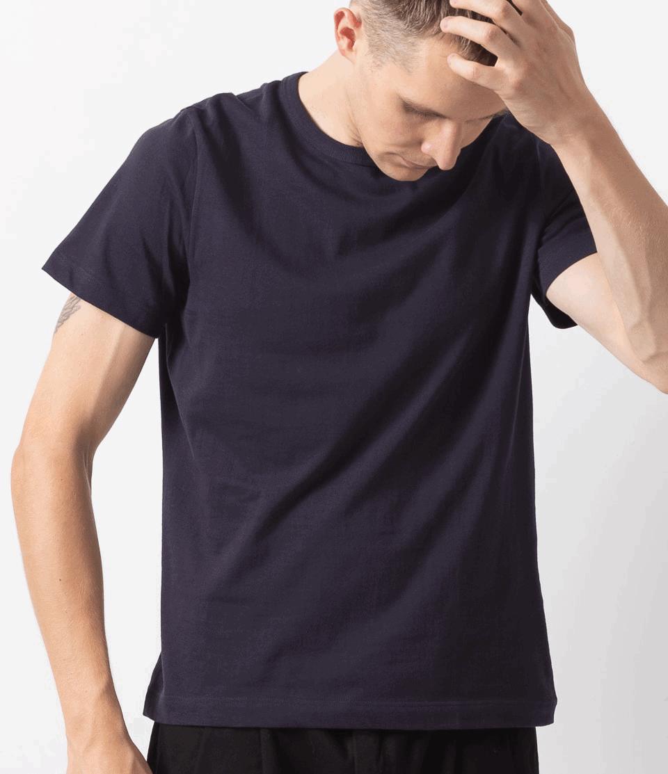 Merz b. Schwanen G.O. Roundneck T-Shirt 215 - night blue
