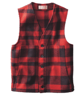 Filson Mackinaw Wool Vest - Red/Black
