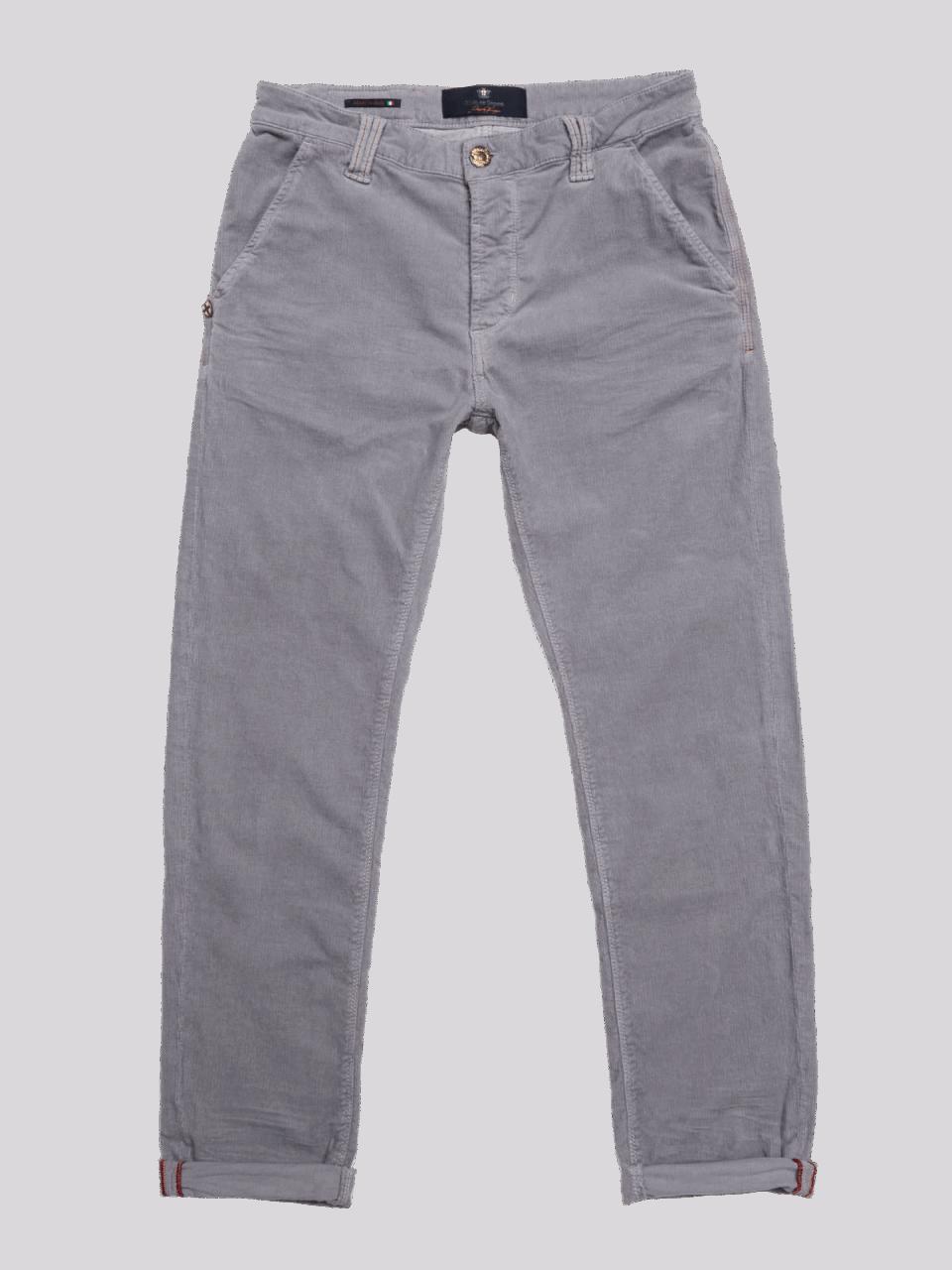 BLUE DE GENES Paulo Zoldo Trousers - Light Grey