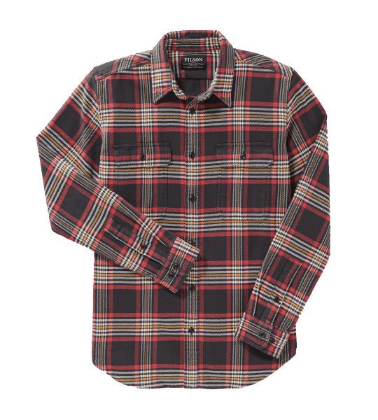 Filson Vintage Flannel Work Shirt - black/red/gold
