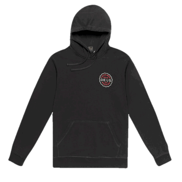 Deus Biarritz Address Hoodie - black/red