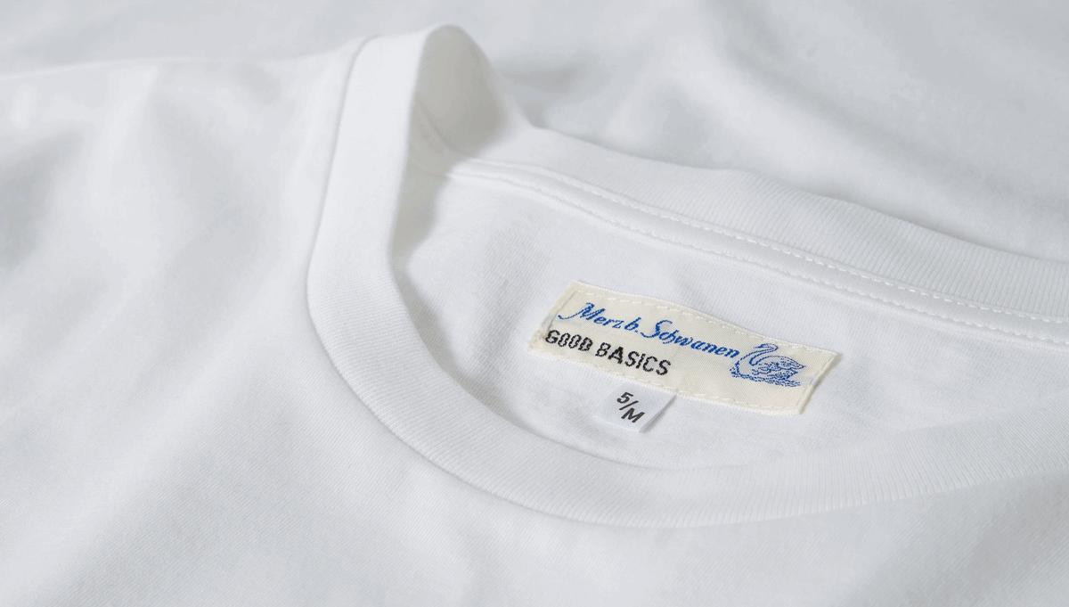 Merz b. Schwanen Basic Pocket T-Shirt - White