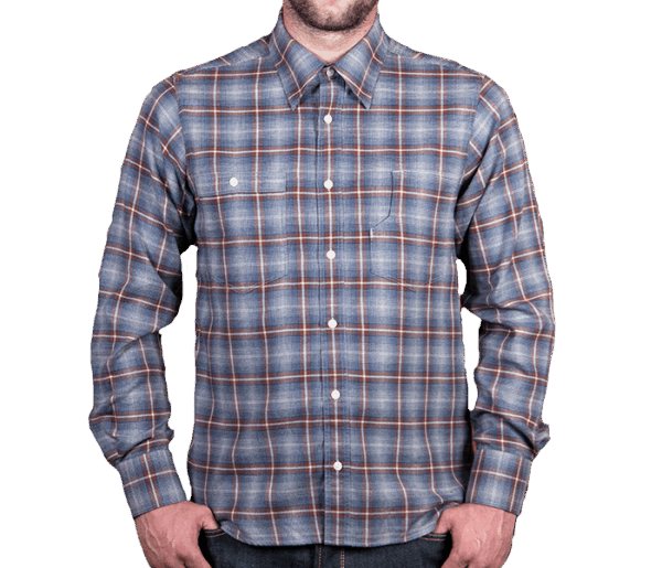 Pike Brothers 1937 Roamer Shirt blue brown check flannel