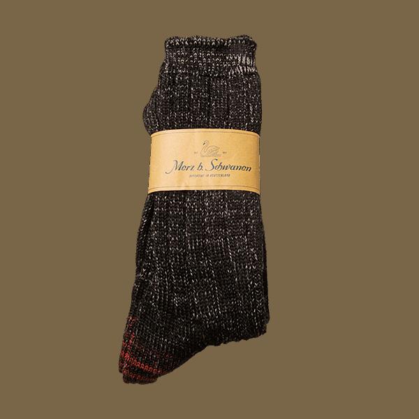 Merz beim Schwanen Merino Socks - schwarz/grau
