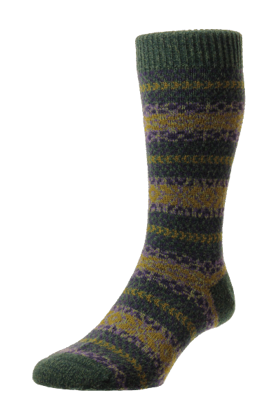 Scott Nichol Country Fairisle Stripe - forrest