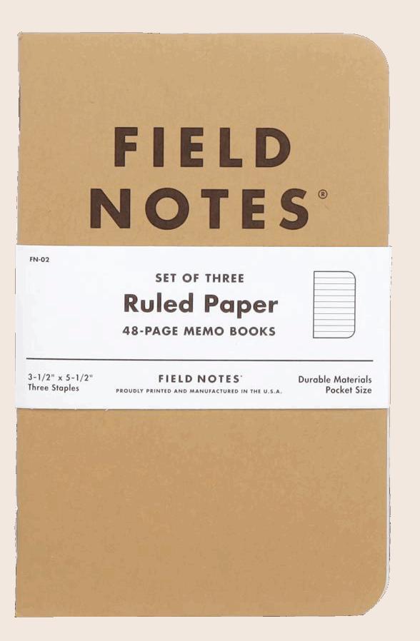 Field Notes Original Kraft - Ruled