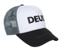 Deus Caps Trucker - black / white / gray