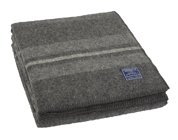 Faribault Cabin Blanket Charcoal 125x180cm / 50x72 inch