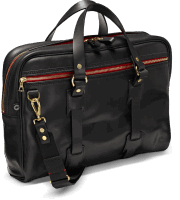 Croots Vintage Leather Laptop Bag - black