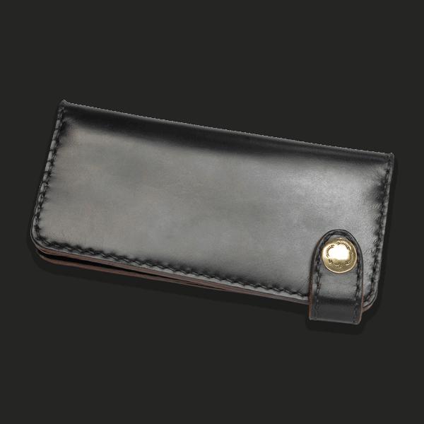 Coronado Leather HH9 BLK Long Snap Wallet Black