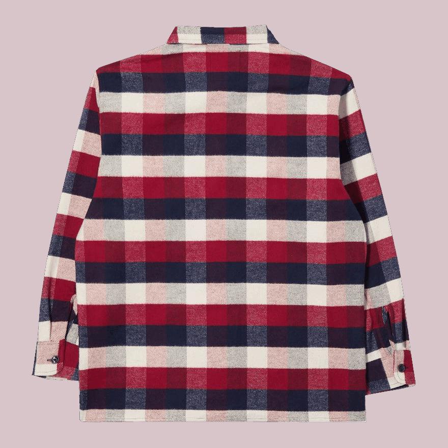 Edwin Big Shirt Flannel Bordeaux/ Navy