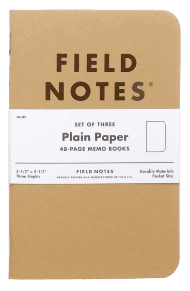 Field Notes Original Kraft 3er Set - Blanco