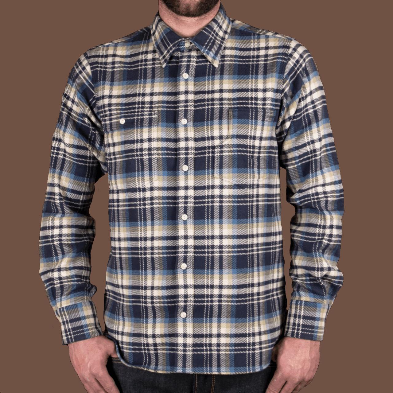 Pike Brothers 1937 Roamer Shirt Dark Blue Flanel