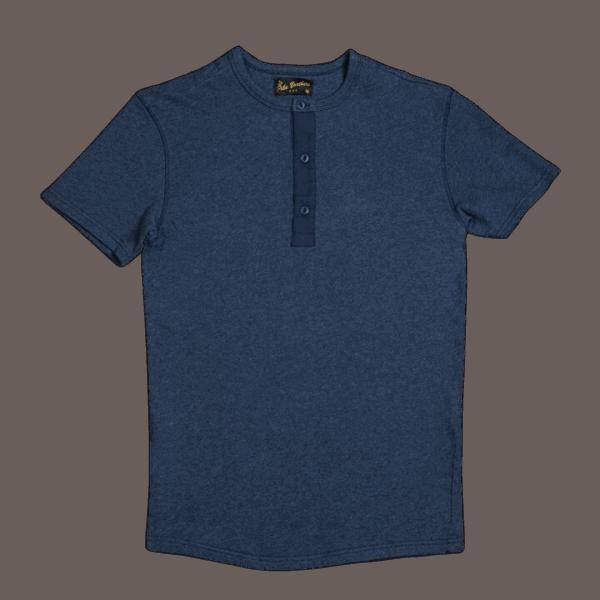 Pike Brothers 1954 Utility Shirt Short Indigo Melange