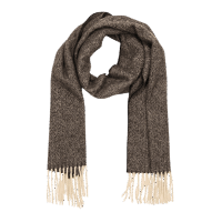 John Hanly Herringbone Scarf - Grey / Black