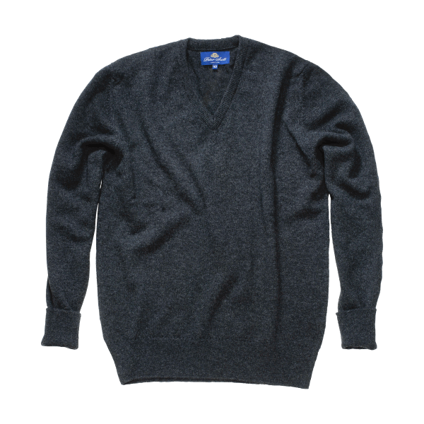Peter Scott BALLATER V- Neck Pullover Charcoal