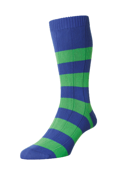 Scott Nichol Ely Rugby Stripe - royal/ mint