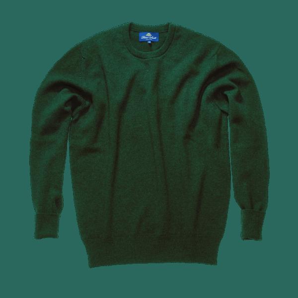 Peter Scott BRAEMAR Crew Neck Pullover Tartan Green