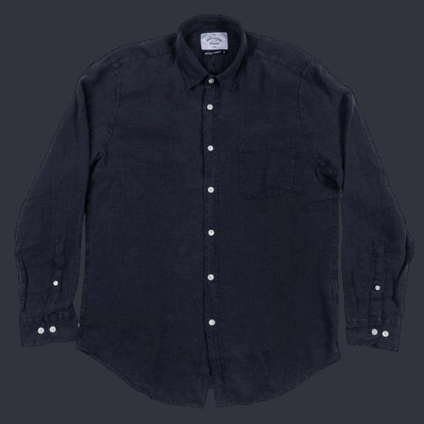 Portuguese Flannel Leinenshirt - Dark Blue