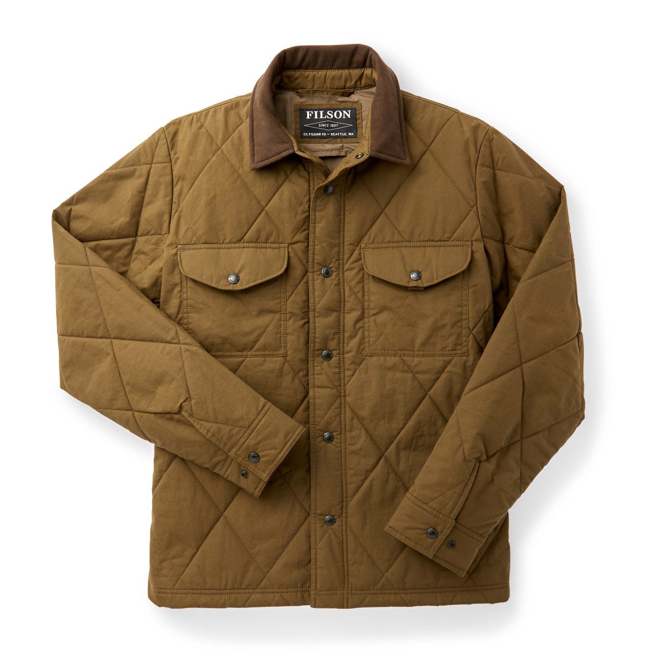 Filson Hyder Quilted Jac-Shirt - marsh olive