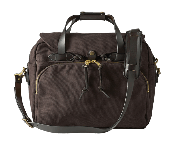 Filson Rugged Twill Padded Computer Bag - Brown