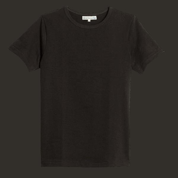 Merz b. Schwanen Rundhals T-Shirt 214 - charcoal