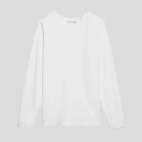 Merz b. Schwanen 1950's Longsleeve -Shirt - white