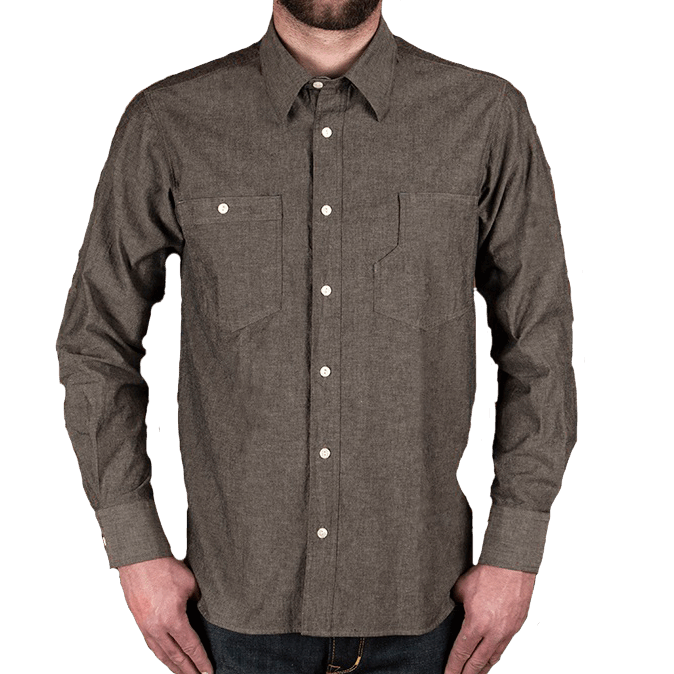 Pike Brothers 1937 Roamer Shirt Charcoal Grey