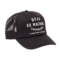 Deus Camperdown Trucker Cap Black