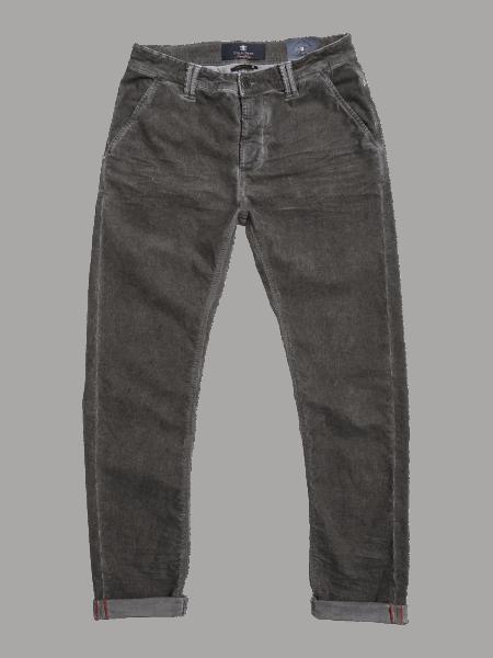 BLUE DE GENES Paulo Zoldo Super Oil Trousers - Steel Grey