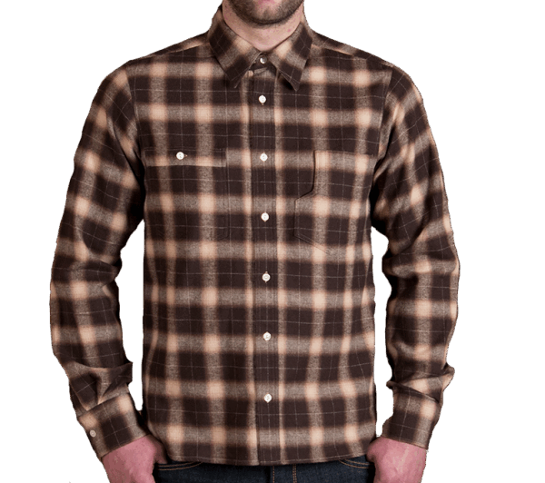 Pike Brothers 1937 Roamer Shirt brown beige check flannel