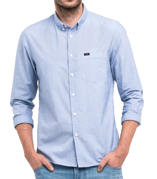 LEE Slim Button Down- light blue