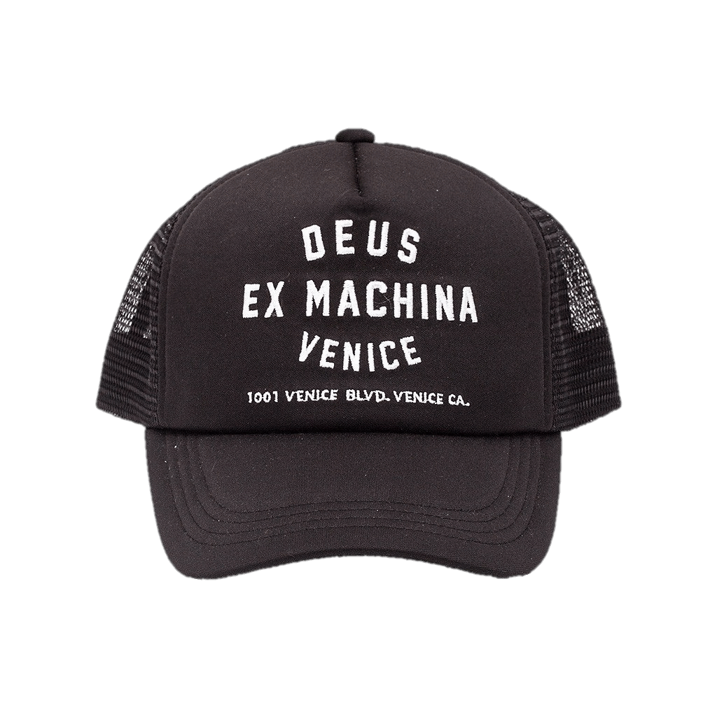 Deus Venice Trucker Cap Black