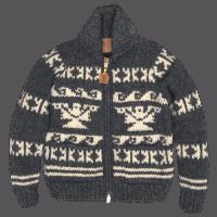 Kanata Wool Jacke - charcoal/ ecru