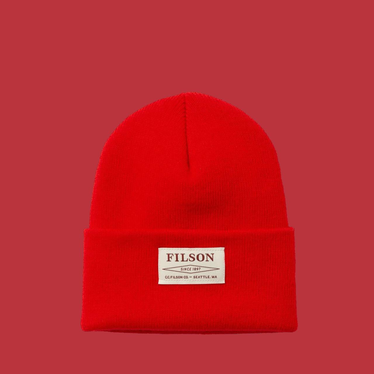 Filson Acrylic Watch Cap - red