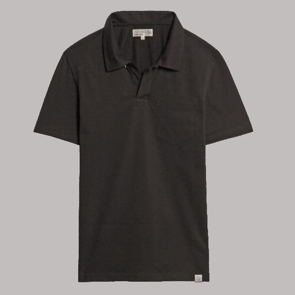 Merz b. Schwanen Pocket Polo Shirt - Deep Black