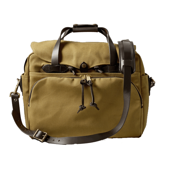 FILSON PADDED COMPUTER BAG – TAN
