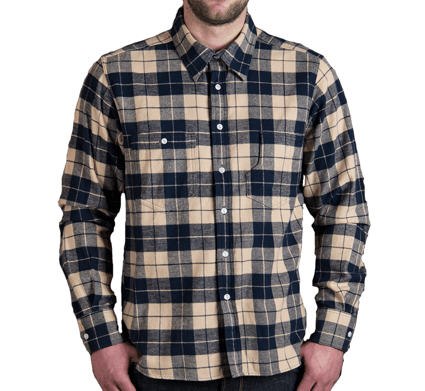 Pike Brothers 1937 Roamer Shirt blue flannel