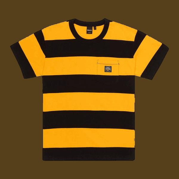 Deus Bonnieville Stripe Tee yellow