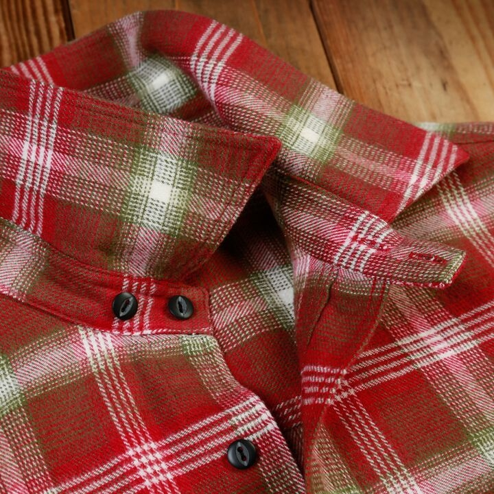 Pike Brothers 1937 Roamer Shirt Oliv Red Flannel