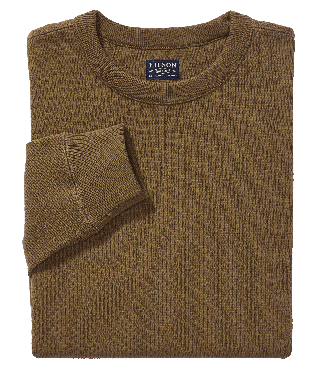 Filson Waffle Knit Thermal Crew Shirt-mossyrock