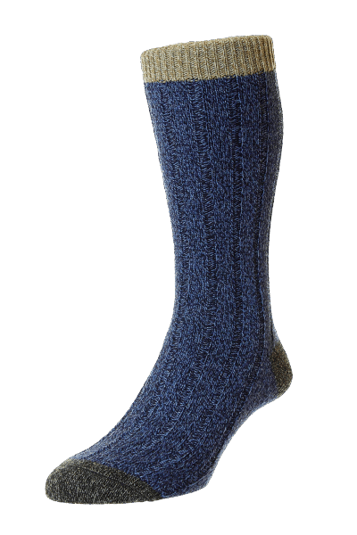 Scott Nichol Burghley Socken - denim