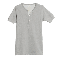 Merz b. Schwanen Knopfleisten T-Shirt 207 - grau mel.